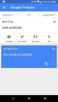 Google překladac novy design