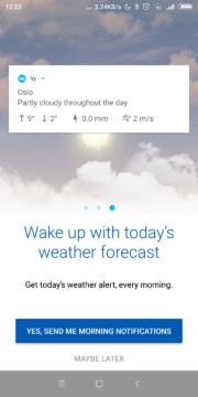 Ranní přehled počasí v oznámeních