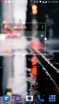 Rozměry widgetu lze měnit