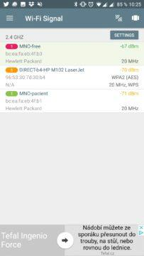 Seznam Wi-Fi v okolí