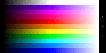 Test jemných barevných přechodů