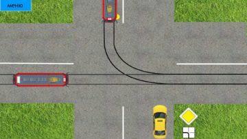 Výchozí situace - první by mělo jet auto