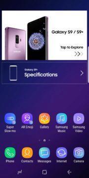 galaxy s9 aplikace