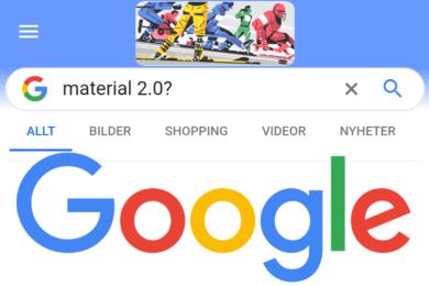 novy vzhled vyhledavani google