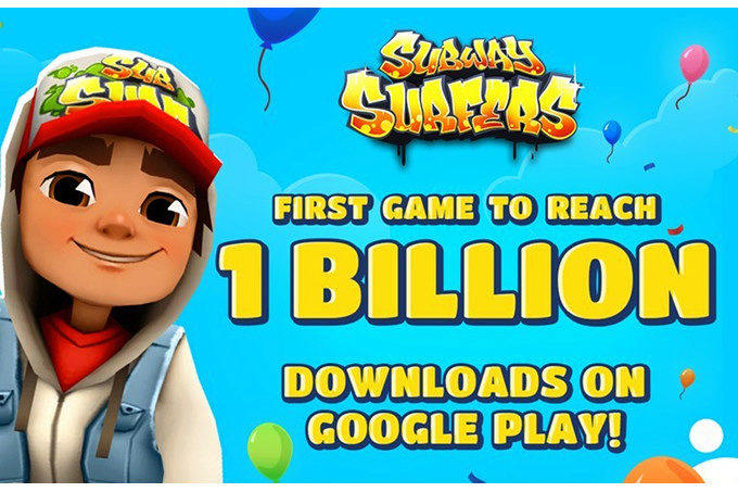 subway surfers miliard stazeni