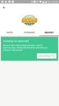 Aplikace žádá přístup k poloze