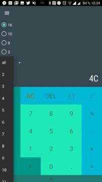 Převody android aplikace - Další číselné soustavy