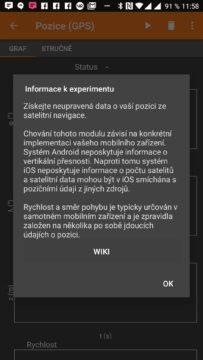 Informace o experimentu