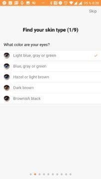 Jedna z otázek - barva očí