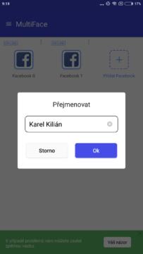 Přejmenování ikony - MultiFace