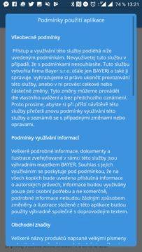 Podmínky použití aplikace Pylové zpravodajství