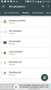 Sekce Finance