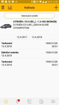 Výdaje za auto