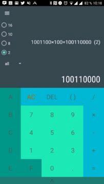 Převody android aplikace - Výpočty v binární soustavě