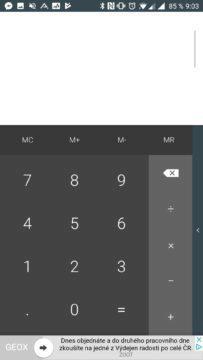 Základní kalkulačka
