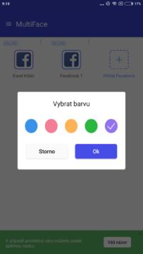 Změna barvy rámečku - MultiFace