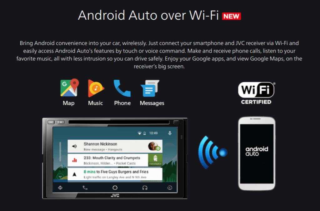 android auto aplikace bezdratove pripojeni wifi