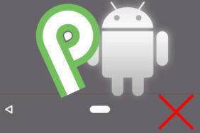 navigacni lista tlacitko odstraneni android p