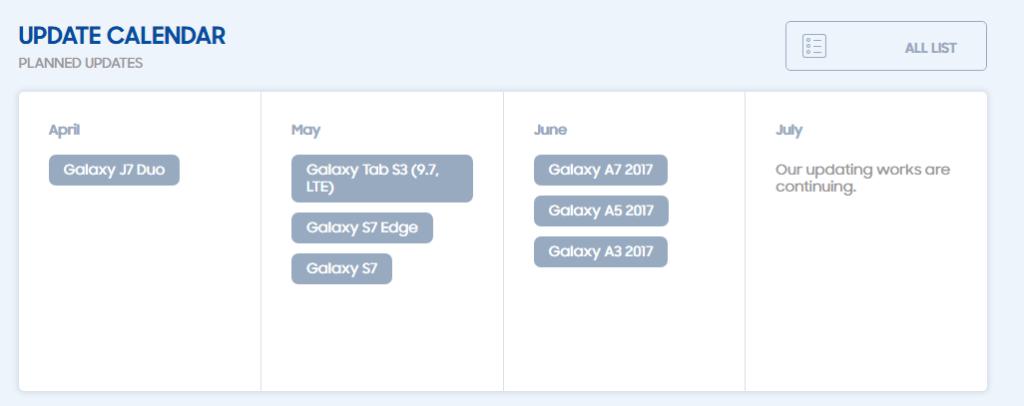 rada samsung galaxy android oreo aktualizace