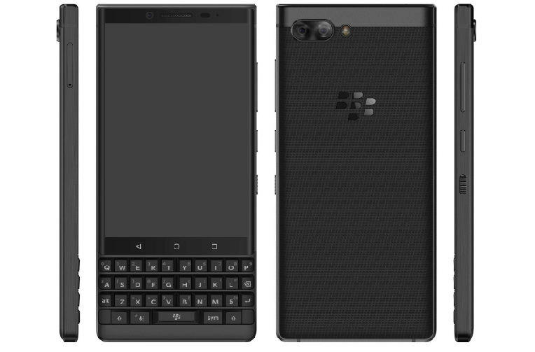 render blackberry keytwo telefon