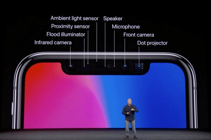 senzory pro 3d skenovani obliceje apple iphone x
