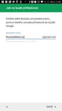 Účet Google Family Link