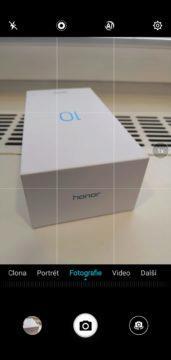 Aplikace fotoaparátu u Honor 10
