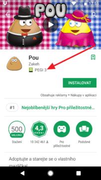 Aplikace s PEGI 3