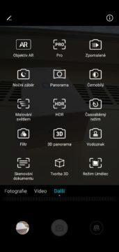 Honor 10 nabízí u fotoaparátu velké množství funkcí