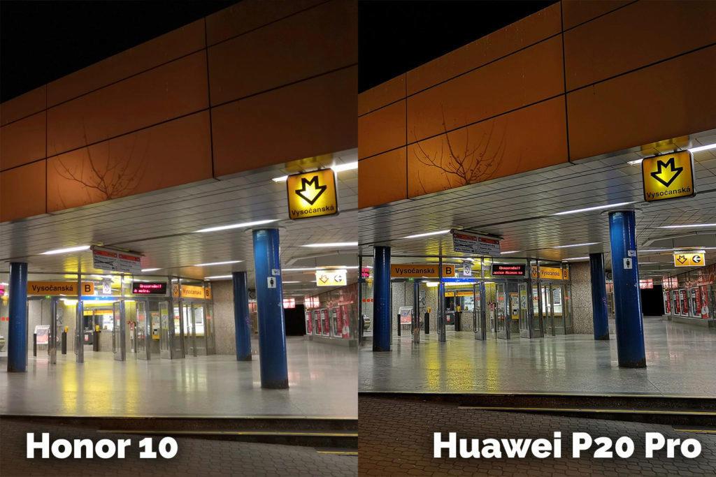 Honor 10 vs Huawei P20 Pro metro
