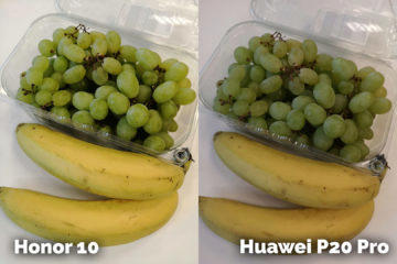 fototest Honor 10 vs Huawei P20 Pro ovoce