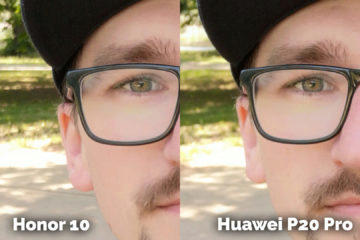 fototest Honor 10 vs Huawei P20 Pro selfie detail