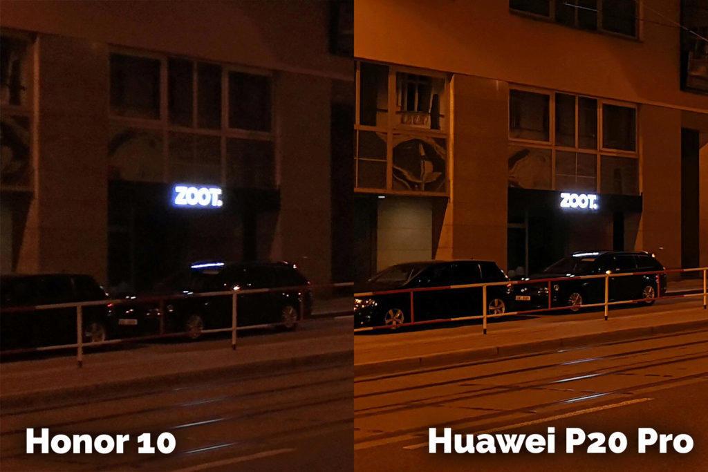 Honor 10 vs Huawei P20 Pro vecerni fotografie