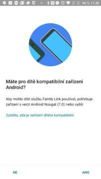 Kompatibilní zařízení Google Family Link