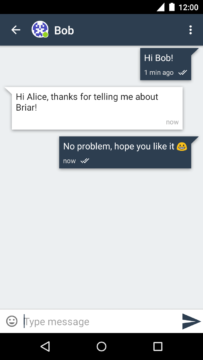 Aplikace Briar Komunikace s kontaktem