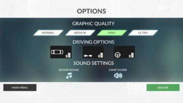 Nastavení hry Real Car Parking 2