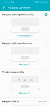 Navigace systémem Android 8 Oreo u Honor 10