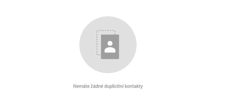 """Kontakty Google: """"Nemáte žádné duplicitní kontakty"""""""