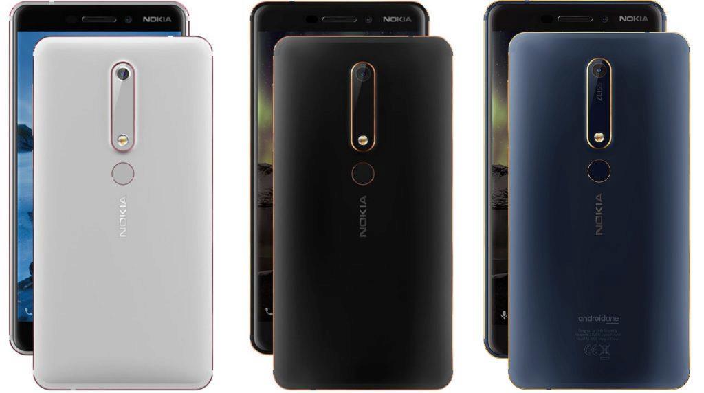 Nokia 6.1 barevné varianty