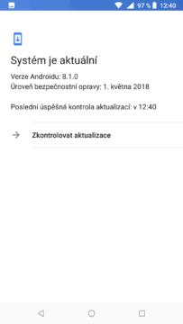 Nokia 6.1 systém