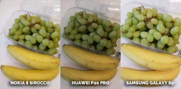 fototest Nokia 8 Sirocco vs Huawei P20 Pro vs Samsung Galaxy S9 Plus - ovoce