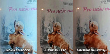 test fotoaparátů Nokia 8 Sirocco vs Huawei P20 Pro vs Samsung Galaxy S9+ - reklama