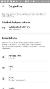Ovládací prvky Google Play