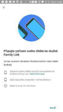 Připojení dítěte k Family Link