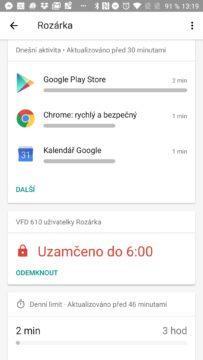 Používání aplikací Google Family Link