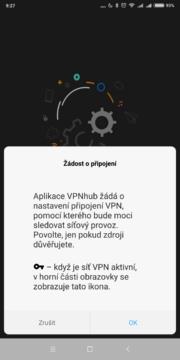 VPNhub - Povolení VPN připojení