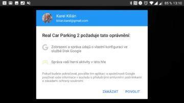 Propojení se službou Hry Google Real Car Parking 2