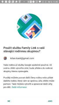 Rodinná skupina Google Family Link