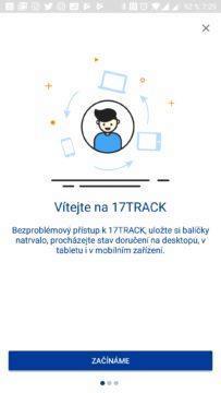 Synchronizace přes cloud - 17Track