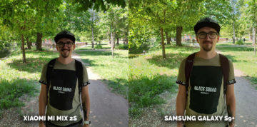 Fototest Xiaomi Mi Mix 2S vs Samsung Galaxy S9 Plus - portret